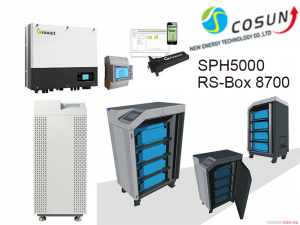 RS-Box 8700 and Growatt Solar Power Power Storage System SPH5000