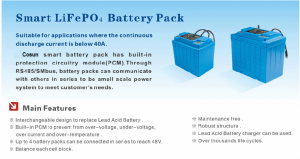 Cosun 12V LiFePO4 Solar Battery Pack