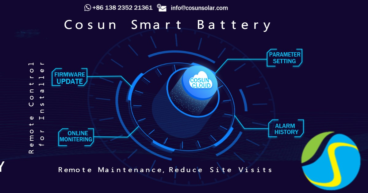 Cosun Smart battery cloud features
